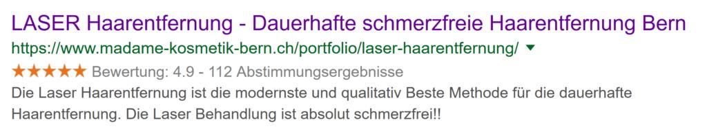 Laser Haarentfernung in Bern. Dauerhafte Laser Haarentfernung.