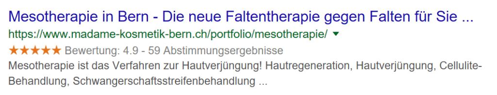 Mesotherapie in Bern. Behandlung mit Hyaluronsäure.