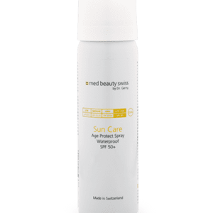 Med Beauty Swiss Suncare online shop. Suncare Age Protectspray Waterproof spf 50